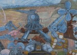 Locomotive, Train Station Mural III