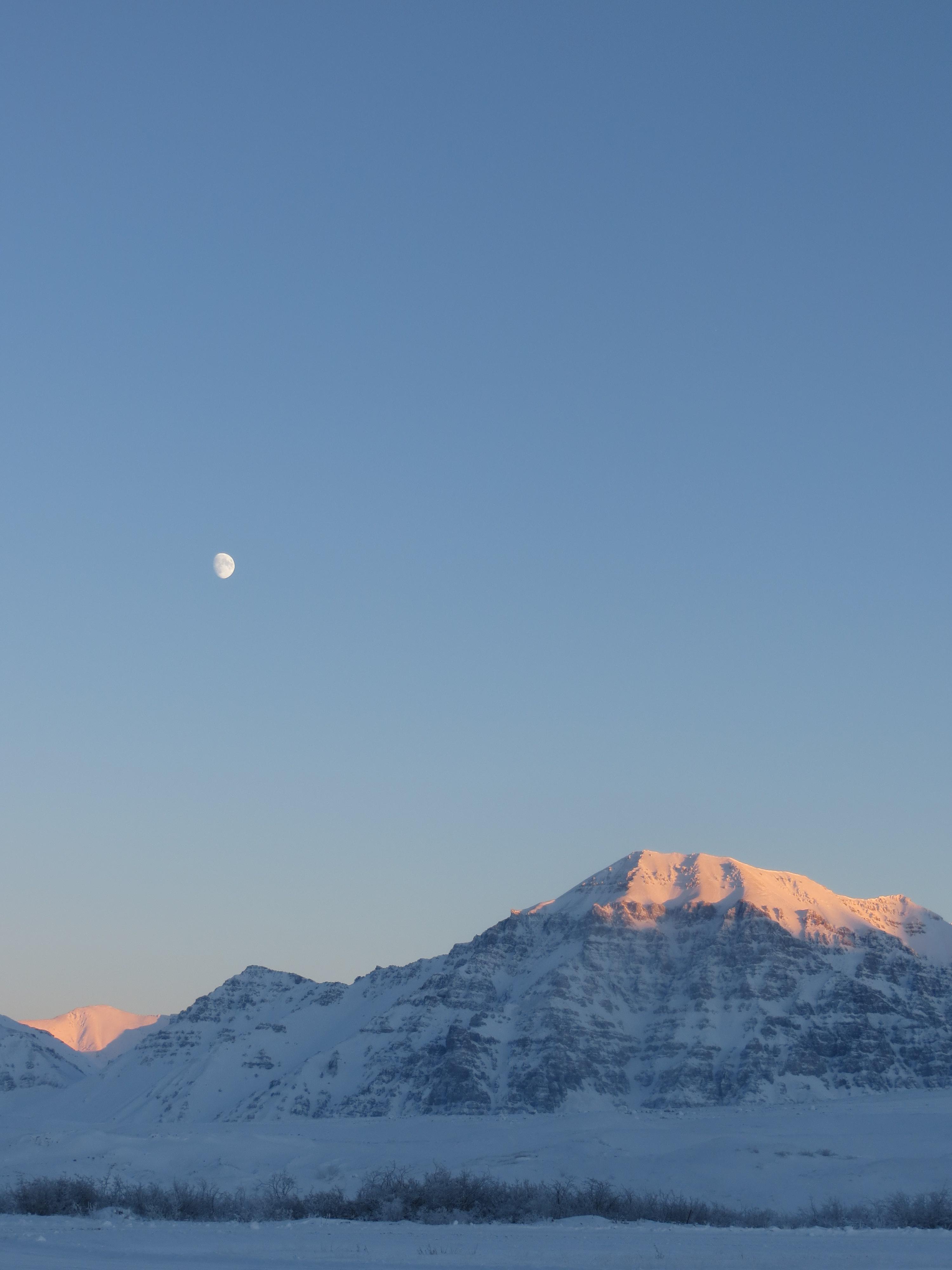 Moon Over a Mountain