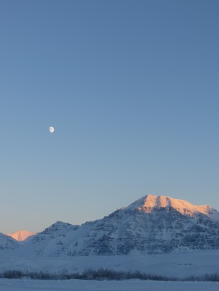 Moon Over a Mountain