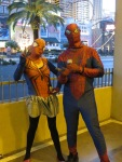 Spider People Flash a Peace Sign!