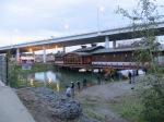 Bridge Restaurant with Fisherman