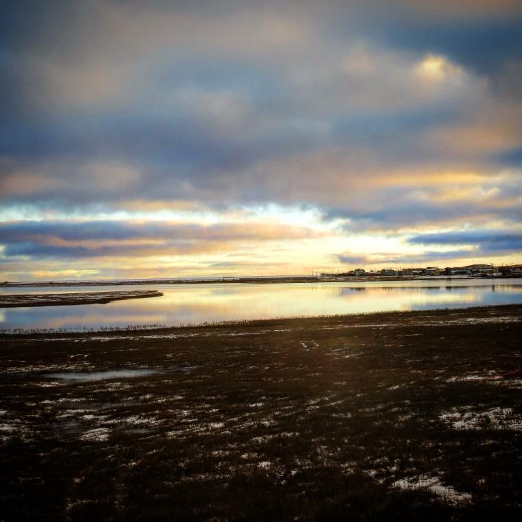Sunset Over a Pond (Barrow)