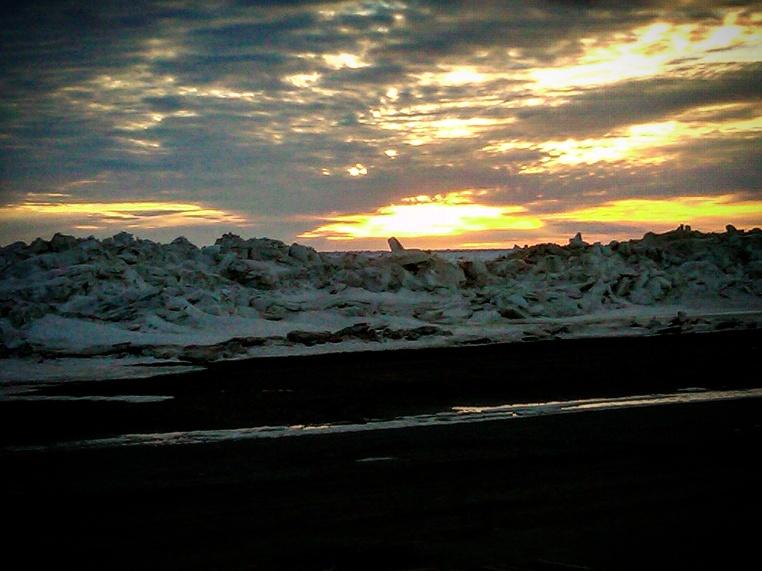Sunset Over Melting Sea Ice (Barrow)