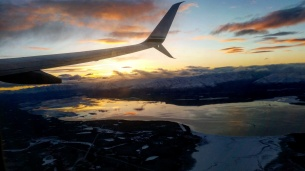 A few minutes out from Anchorage
