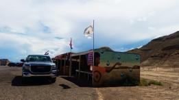 Under a Navajo Nation Flag