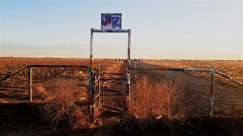 Entrance to the Cadillac Ranch