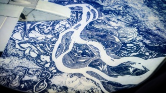 Apparently the Tundra south of Prudhoe Bay is made of blueberry swirl
