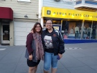 Moni and Annie at Harvey Milk's old haunt