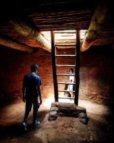 Moni's Nephews in the Kiva at Old Pecos