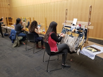 Chilkat Weaving demo at the Alaska Native Studies Conference