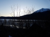 Mendenhall Lake in the evening