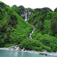 Random Waterfall empties into the sea